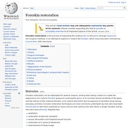 Foreskin restoration