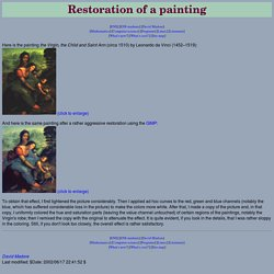 Restoration of a painting
