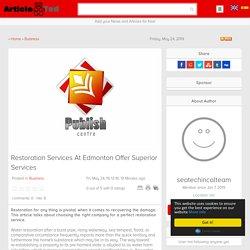 Restoration Services At Edmonton Offer Superior Services