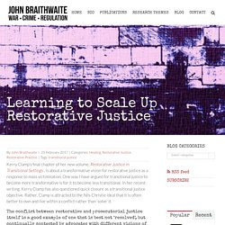 Learning to Scale Up Restorative Justice