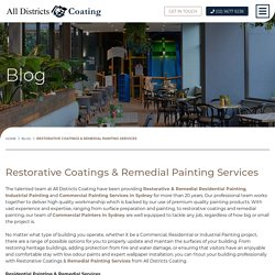 Restorative Coatings & Remedial Painting Services