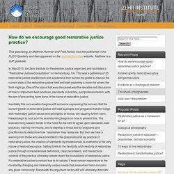 Restorative Justice Blog