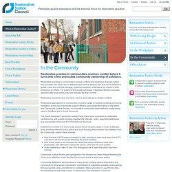 What Is Restorative Justice / Restorative Justice Council