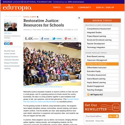 Restorative Justice: Resources for Schools