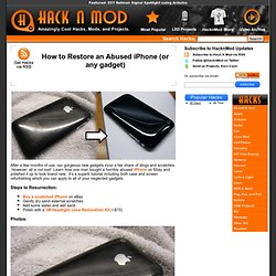 How to Restore an Abused iPhone (or any gadget)