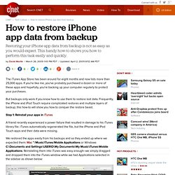 How to restore iPhone app data from backup
