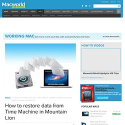 How to restore data from Time Machine in Mountain Lion