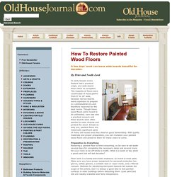 How To Restore Painted Wood Floors, by Peter and Noelle Lord - Old-House Journal