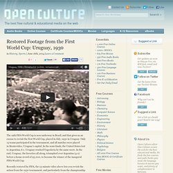 Restored Footage from the First World Cup: Uruguay, 1930 -
