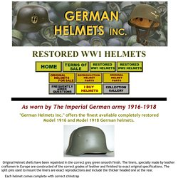 restored WW1 helmets