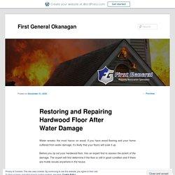Restoring and Repairing Hardwood Floor After Water Damage