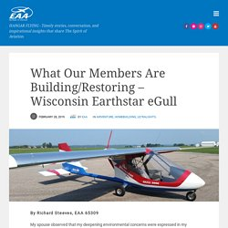 What Our Members Are Building/Restoring – Wisconsin Earthstar eGull – Hangar Flying