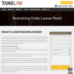 Need Help To Find The Best Lawyer For Restraining Order?