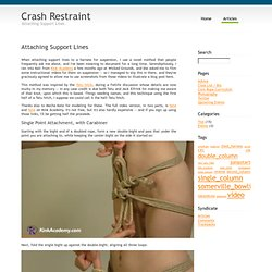 Crash Restraint : Attaching Support Lines