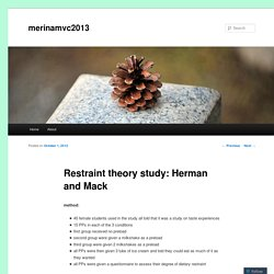 Restraint theory study: Herman and Mack