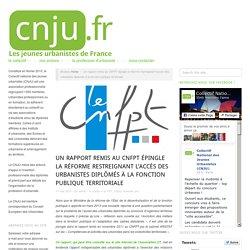 Les urbanistes plébiscités dans un rapport remis au CNFPT