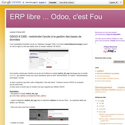 ODOO 8 CMS - restreindre l'accès à la gestion des bases de données