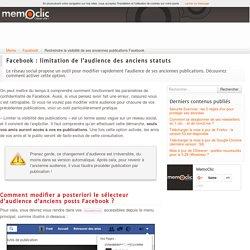 Restreindre la visibilité de ses anciennes publications Facebook