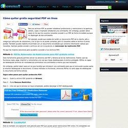 Removedor de restricción PDF – quitar restricciones de un PDF