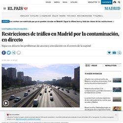 Restricciones de tráfico en Madrid por la contaminación, en directo