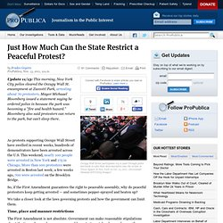 Just How Much Can the State Restrict a Peaceful Protest?