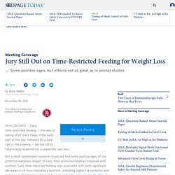 Jury Still Out on Time-Restricted Feeding for Weight Loss