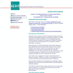 Histamine Restricted Diet—ICUS - International Chronic Urticaria Society