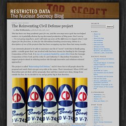 Restricted Data: The Nuclear Secrecy Blog