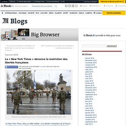 Le « New York Times » dénonce la restriction des libertés françaises