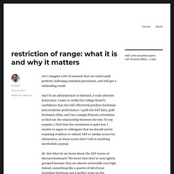 restriction of range: what it is and why it matters – Fredrik deBoer