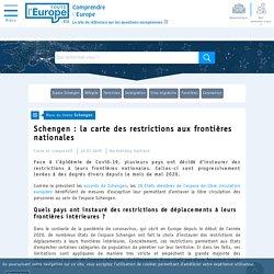 Schengen : la carte des restrictions aux frontières nationales - Schengen-Toute l'Europe