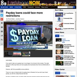 Payday loans could face more restrictions - Story