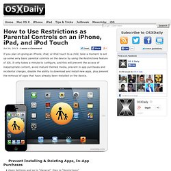How to Use Restrictions as Parental Controls on an iPhone, iPad, and iPod Touch