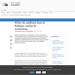PARLEMENT EUROPEEN 16/01/13 Pêche du cabillaud dans la Baltique: moins de restrictions