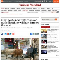 Modi govt's new restrictions on cattle slaughter will hurt farmers the most