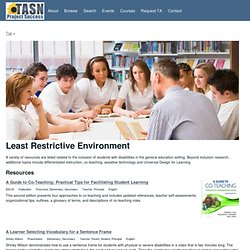 Least Restrictive Environment | Project Success