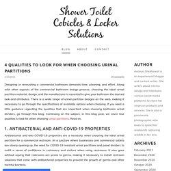 Restroom Cubicles & Locker Solution - Shower Toilet Cobicles & Locker Solutions