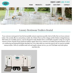 Luxury Event Restroom Portable Trailers On Rent