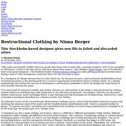 Restructional Clothing by Ninna Berger