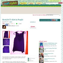 Restyled T-Shirt In Purple