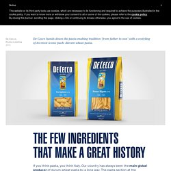 De Cecco, Pasta restyling - CBA, designing brands with heart