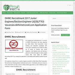 DMRC Recruitment 2017
