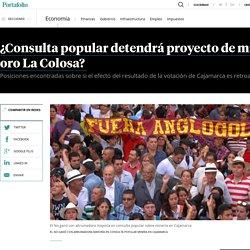Resultado de consulta popular detendrá proyecto minero en Cajamarca