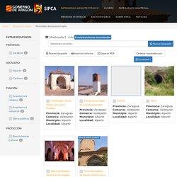 SIPCA - Resultados búsqueda sencilla de bienes arquitectónicos