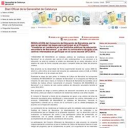 Resultados y ficha. Diari Oficial de la Generalitat de Catalunya