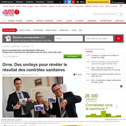 OUEST FRANCE 20/03/17 Orne. Des smileys pour révéler le résultat des contrôles sanitaires