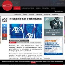 AXA: Résultat du plan d'actionnariat 2016