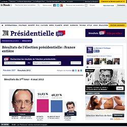 EN DIRECT : Résultat élection présidentielle 2012