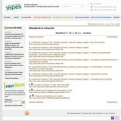 Résultat de la recherche sur le site de l'INPES