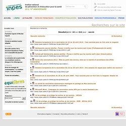 """""""vaccin"""" sur le site de l'INPES"""